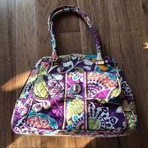 Vera Bradley Plum Crazy Shoulder Bag 👜